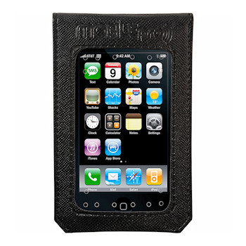 MobilePro 301-M MEDIUM Black iPhone 3/3GS/4/4S - 90% EMR Radiation Protection Shielded Transport Case Hand Made (54 dB)