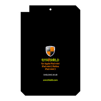 EMR SHIELD for Apple iPad mini 7.9in, mini 2 Retina, mini 3 - Radiation Protection Shielded Back Plate (80 dB)