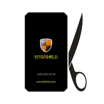 EMR SHIELD  for all mobiles up to <b>7x13 cm</b> - Radiation Protection Shielded Back Plate (80 dB) - <b>CUT</b> the plate to your phone size